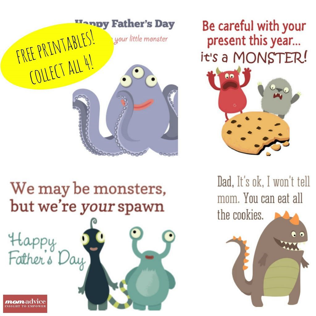 Printable Monster Cards from MomAdvice.com.