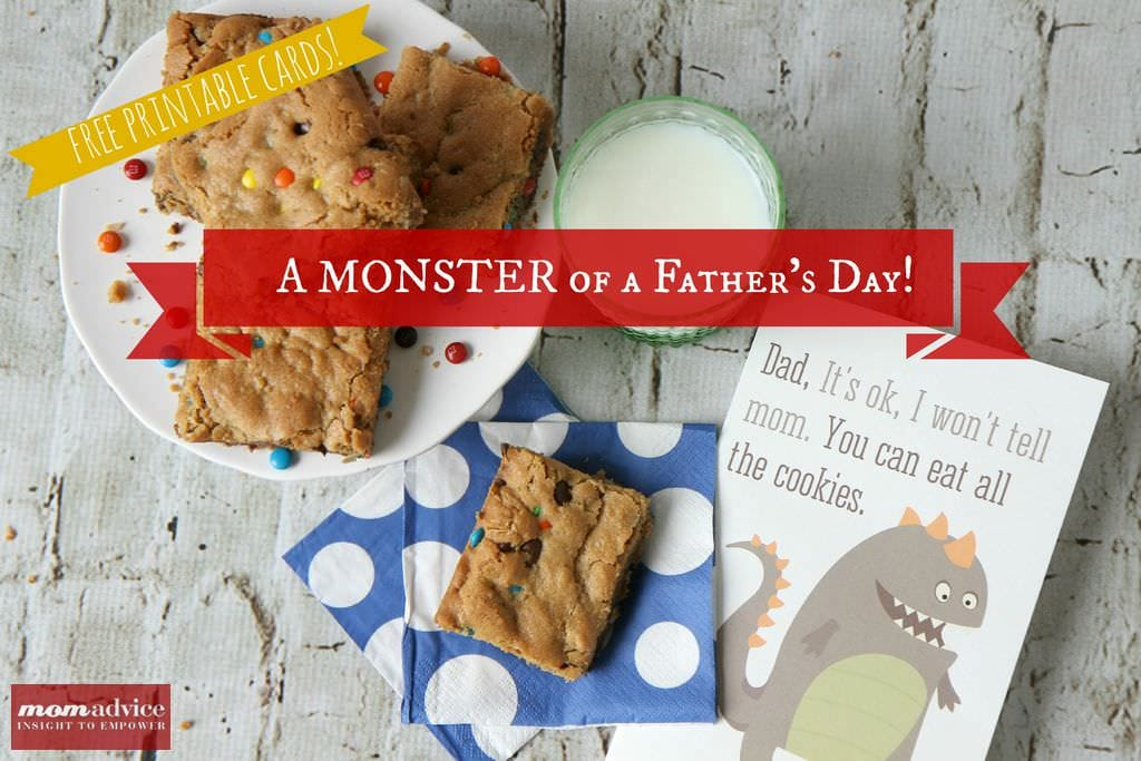 Monster Cookie Bars & Printables from MomAdvice.com.