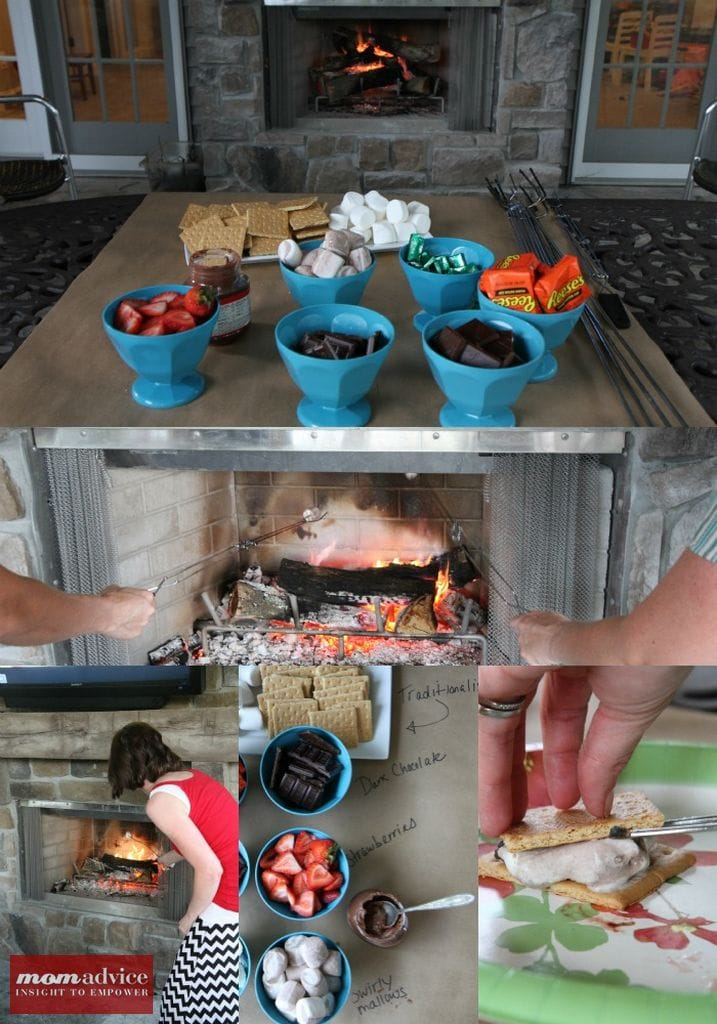 How to Host a S'more Toppings Bar Party from MomAdvice.com.