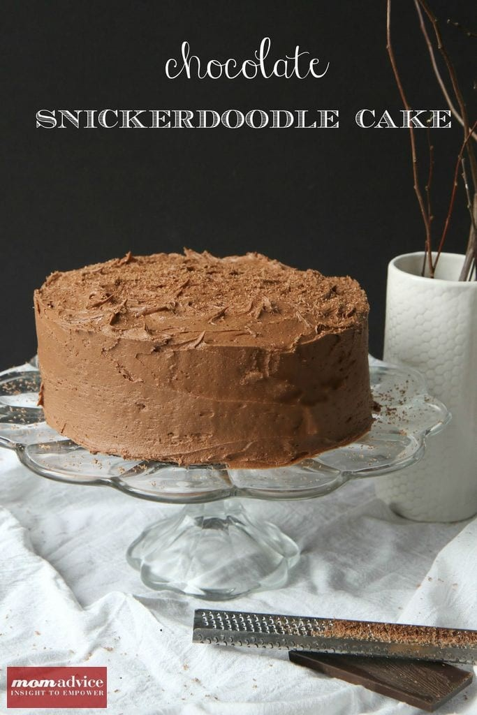 Chocolate Snickerdoodle Cake