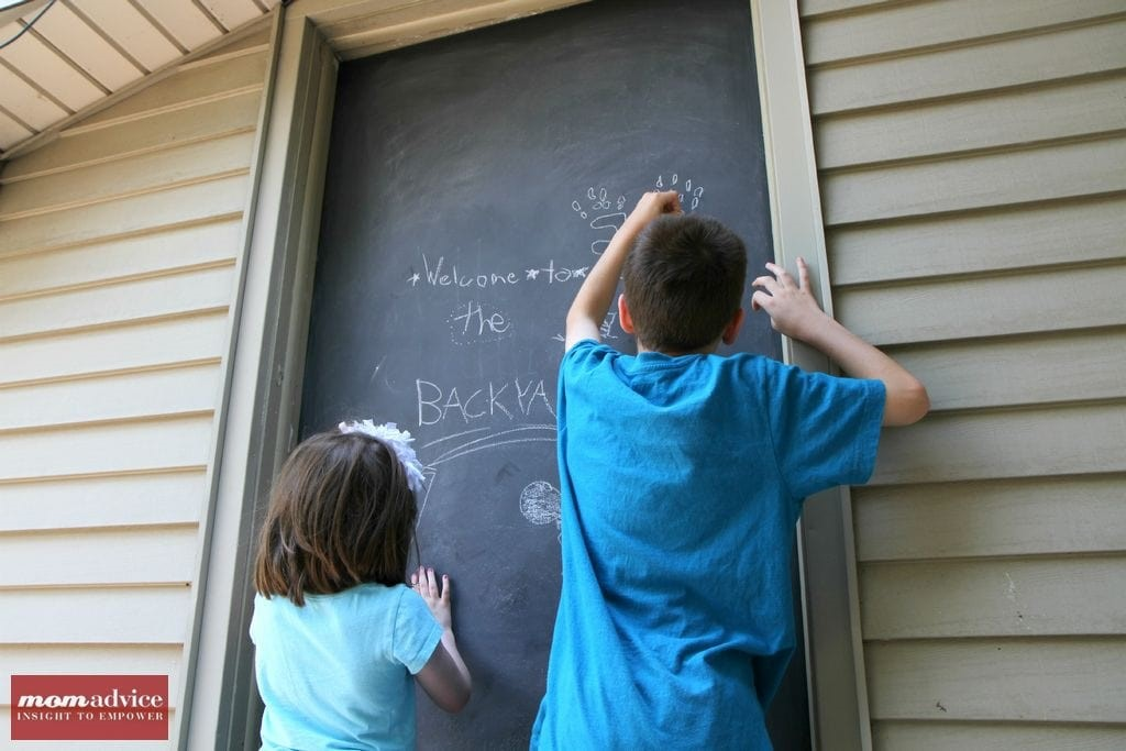 DIY Outdoor Chalkboard Door