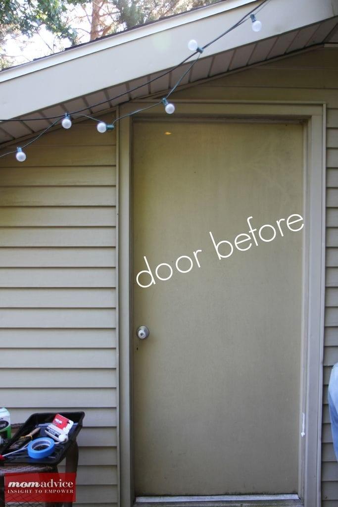 DIY Outdoor Chalkboard Door