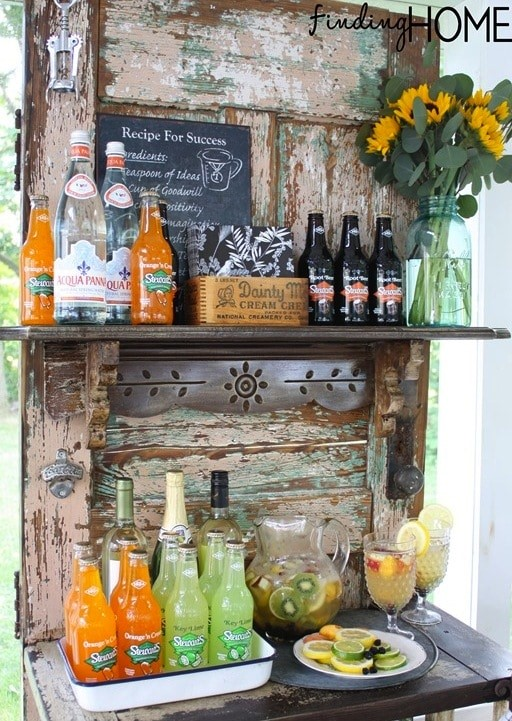 Vintage Door Outdoor Bar