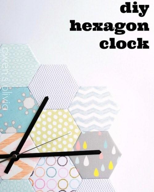 DIY hexagon clock