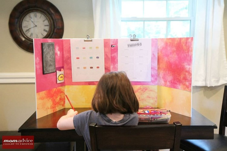 DIY Homework Study Station from MomAdvice.com.