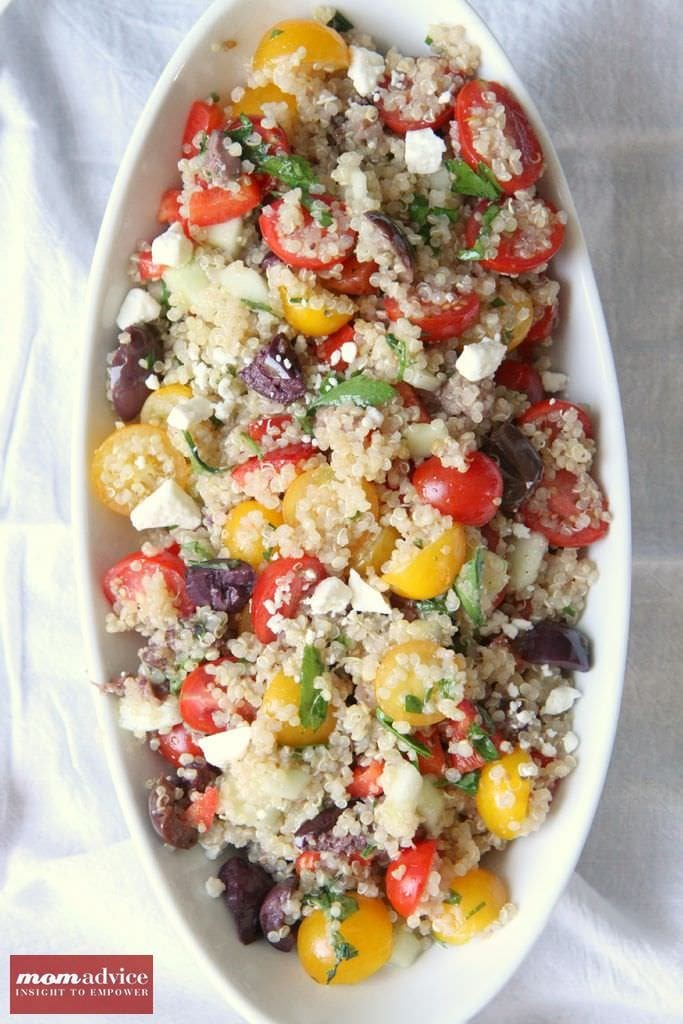 Greek Quinoa Salad from MomAdvice.com.