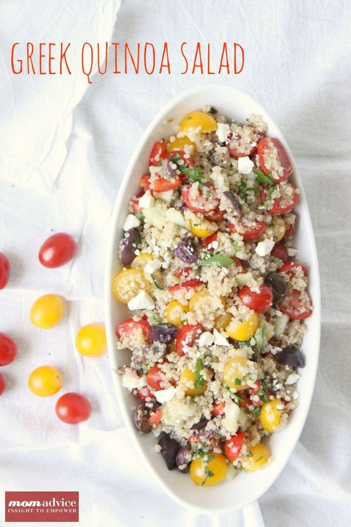 Greek Quinoa Salad from MomAdvice.com