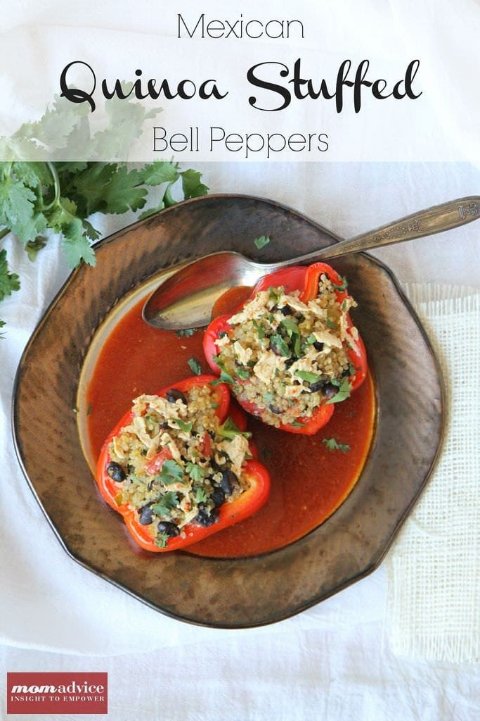 Mexican Quinoa Stuffed Bell Peppers