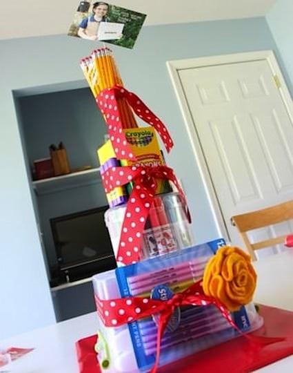 Teacher School Supplies Cake :: MomAdvice.com