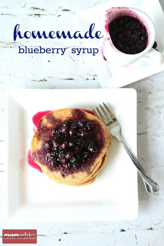 Homemade Blueberry Pancake Syrup from MomAdvice.com.
