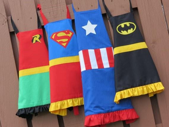 superheros aprons