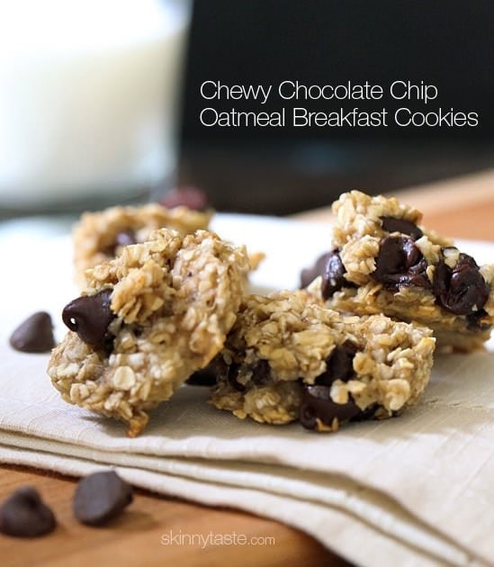 Chocolate Chip Oatmeal Breakfast Cookies