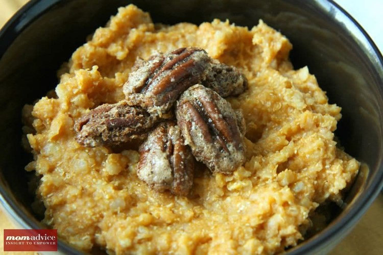 Pumpkin Nut Quinoa Breakfast