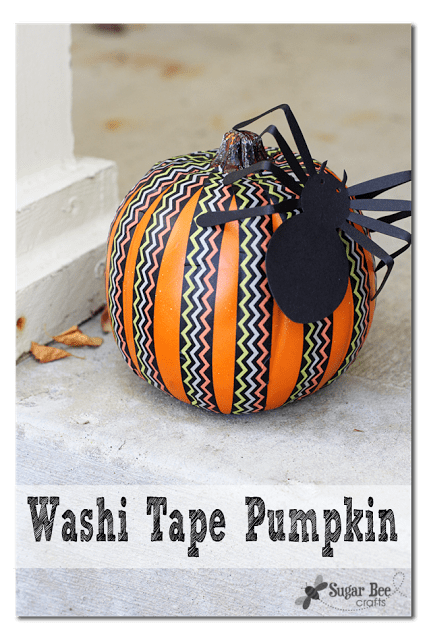 washi tape pumpkin