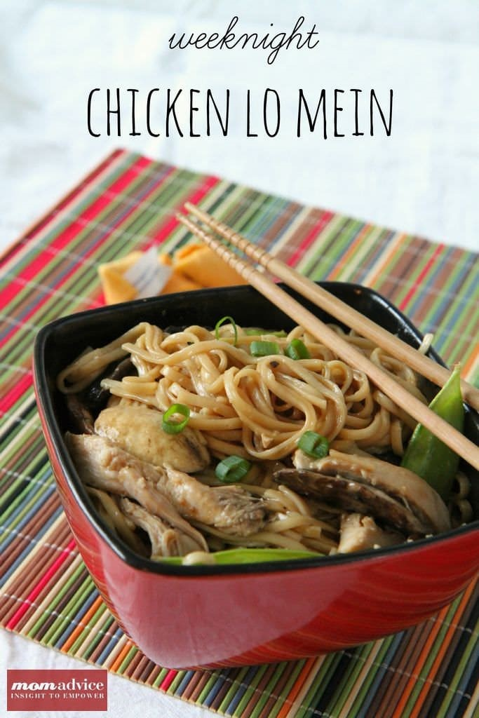 Weeknight Chicken Lo Mein MomAdvice.com