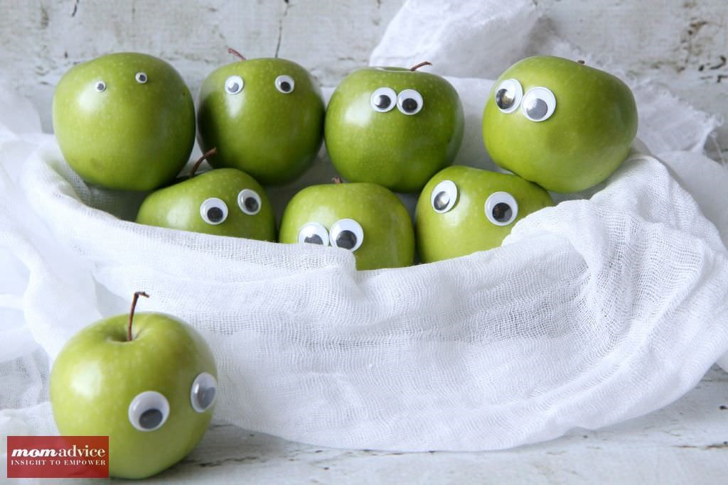 Googly Eyed Apples for Halloween from MomAdvice.com.