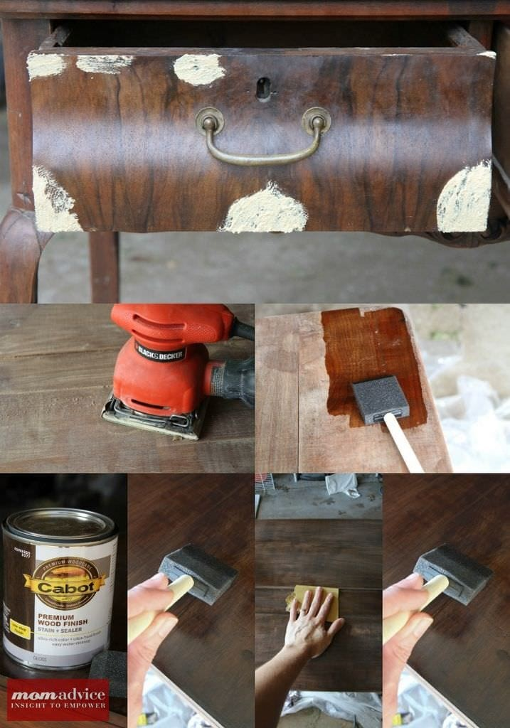 How to Easily Stain Furniture by MomAdvice.com.