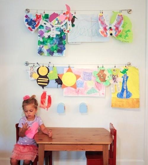 Ikea curtain-art holder