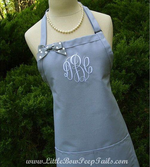 gray apron