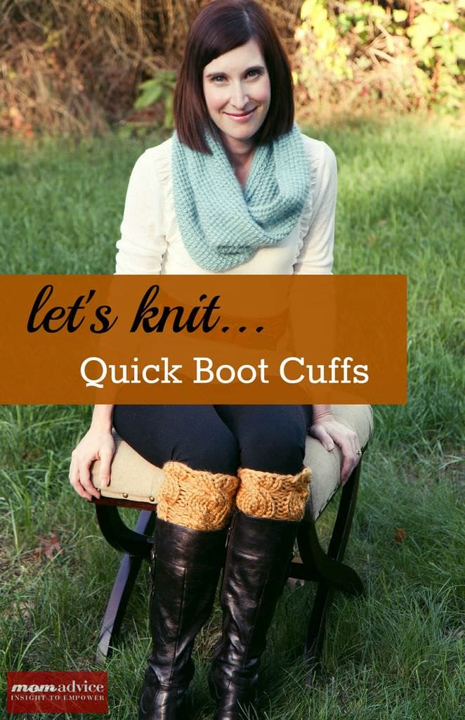 Easy Knitted Boot Cuffs (a 2 hour knit project)  featured on MomAdvice.com.
