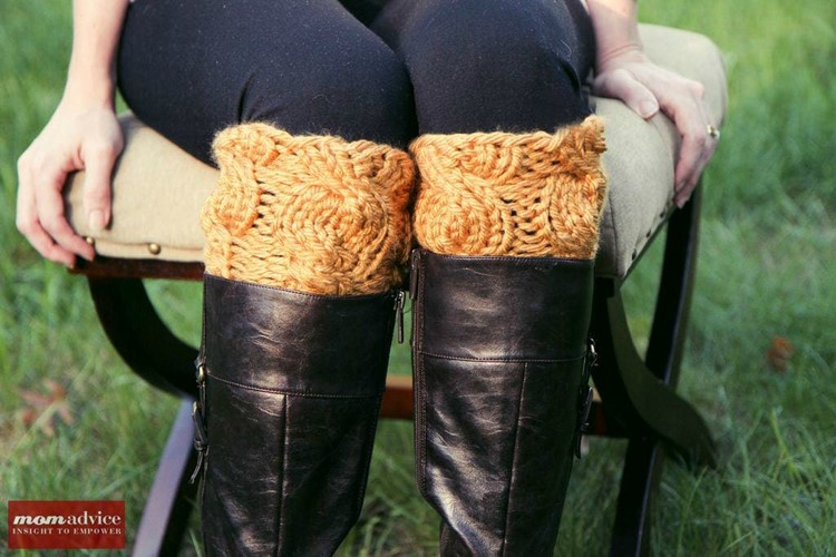 Make a pair of quick knitted boot cuffs tonight!