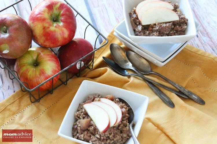 Slow Cooked Honey Crisp Apple Oatmeal from MomAdvice.com.