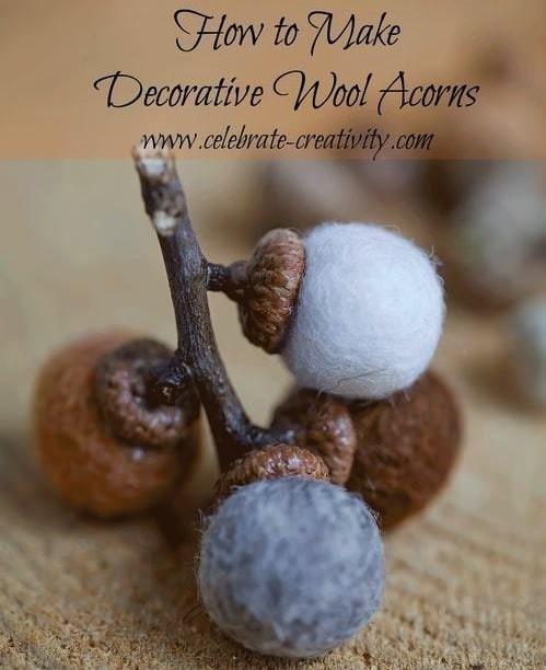 wool acorns