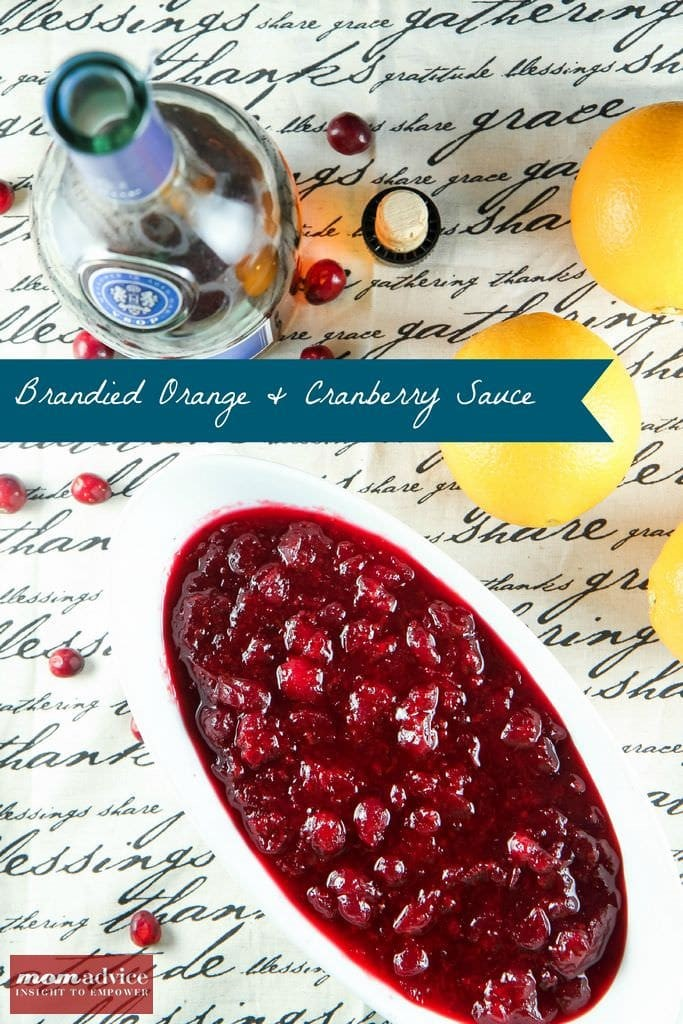 Make-Ahead Brandied Orange & Cranberry Sauce from MomAdvice.com