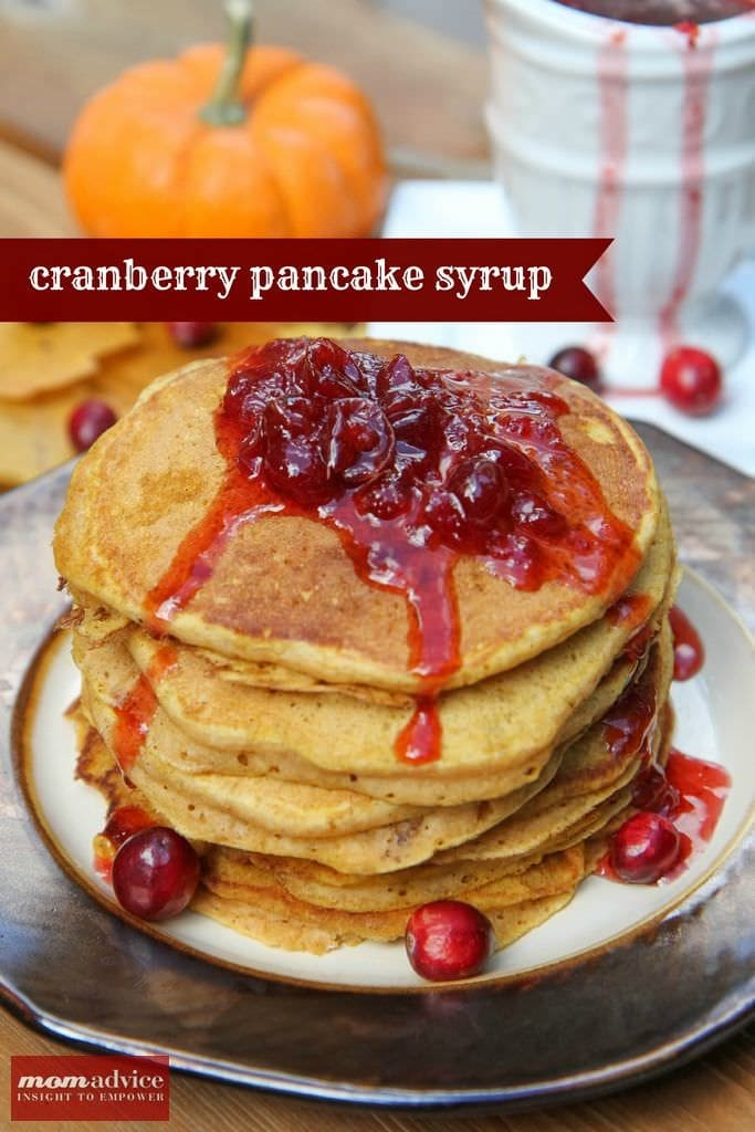 2 Ingredient Cranberry Pancake Syrup