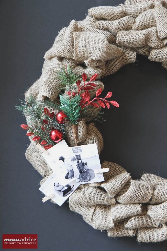Easy Burlap Wreath Tutorial