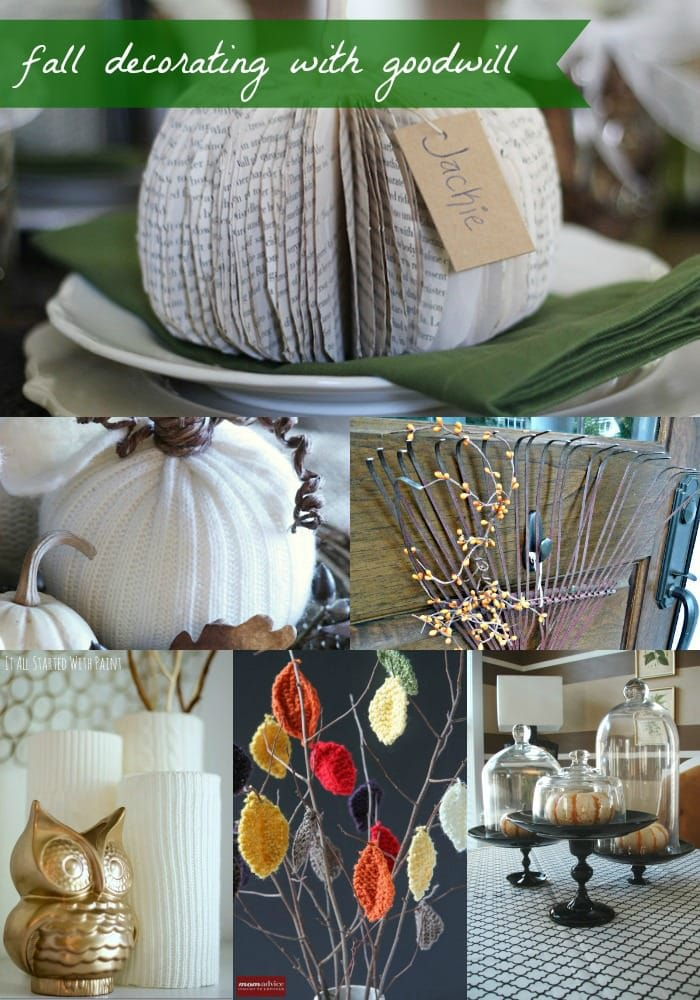 Fall Decorating With Goodwill Store Items from MomAdvice.com.