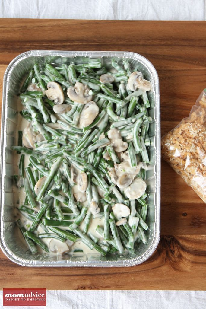 Make-Ahead Green Bean Casserole from MomAdvice.com.
