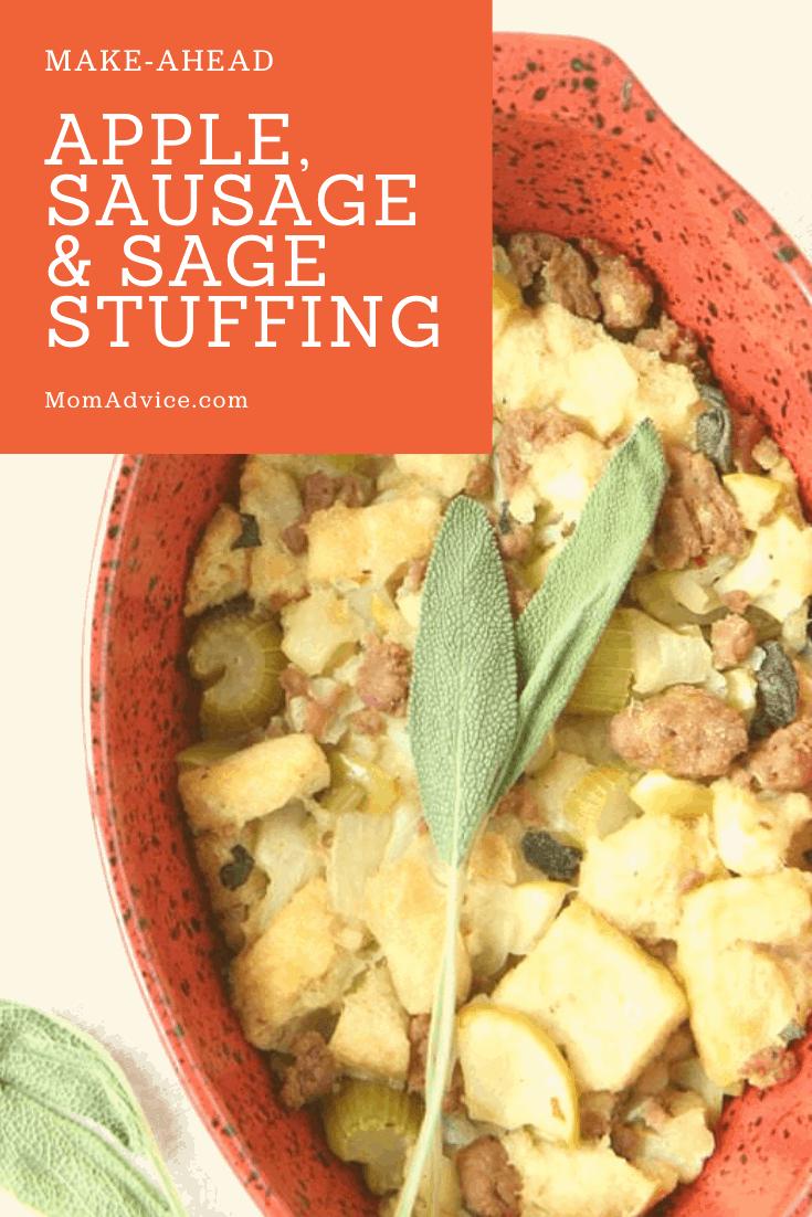 Apple,Sausage & Sage Stuffing MomAdvice.com