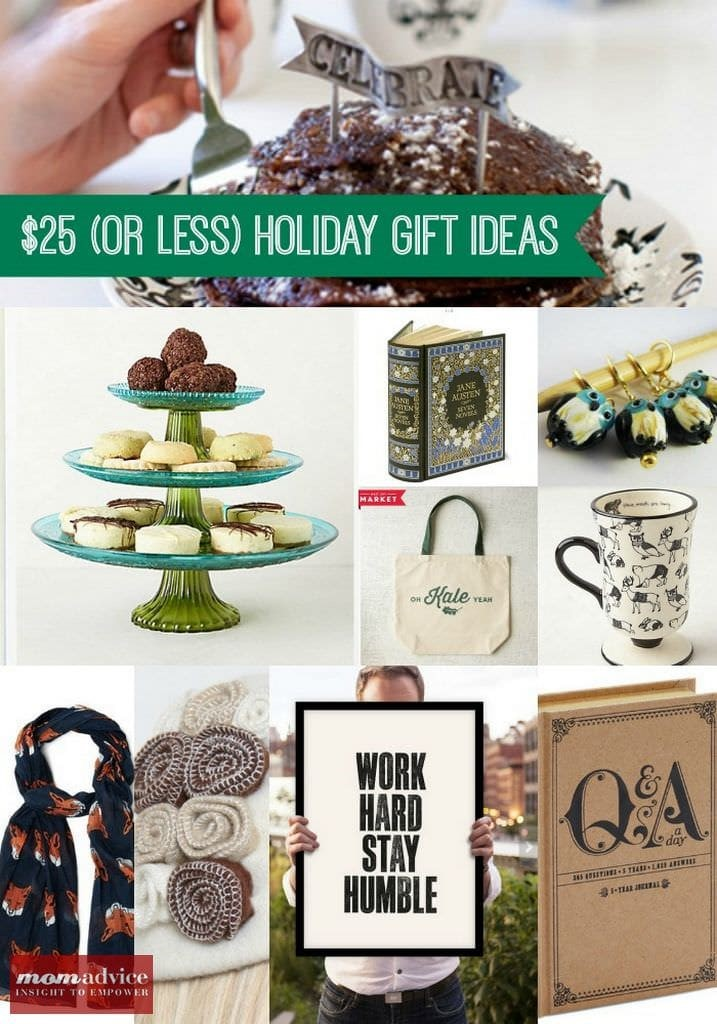 Christmas Gift Ideas Under $25 from MomAdvice.com.