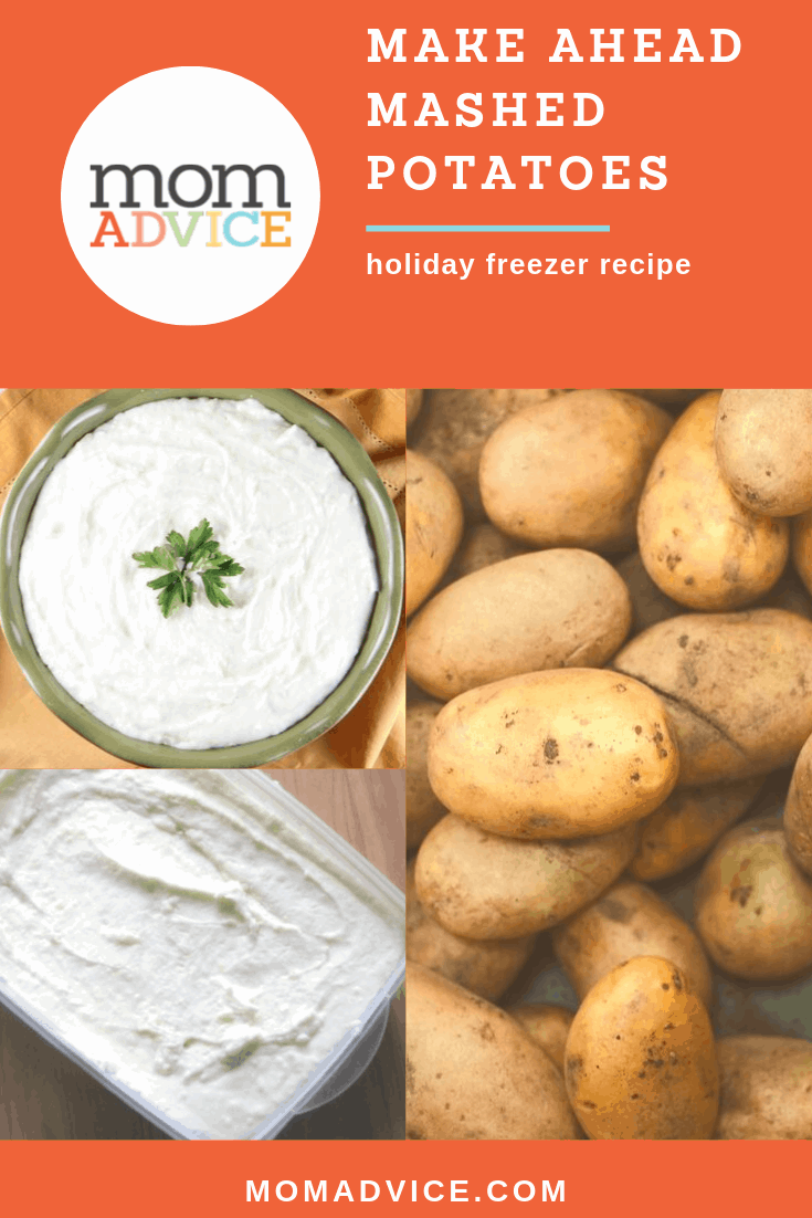 make-ahead holiday mashed potatoes from MomAdvice.com