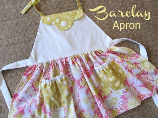 pink barclay apron