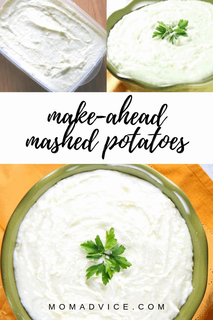 Make ahead Mashed Potatoes MomAdvice.com