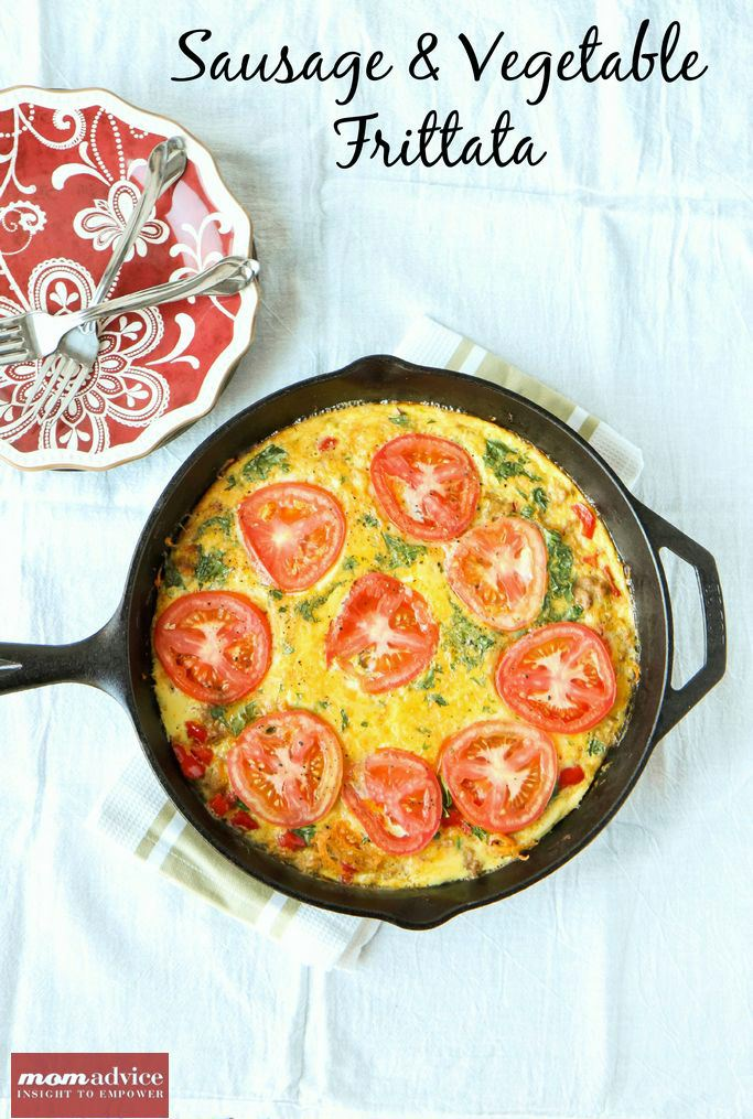 Easy Sausage & Vegetable Frittata from MomAdvice.com.