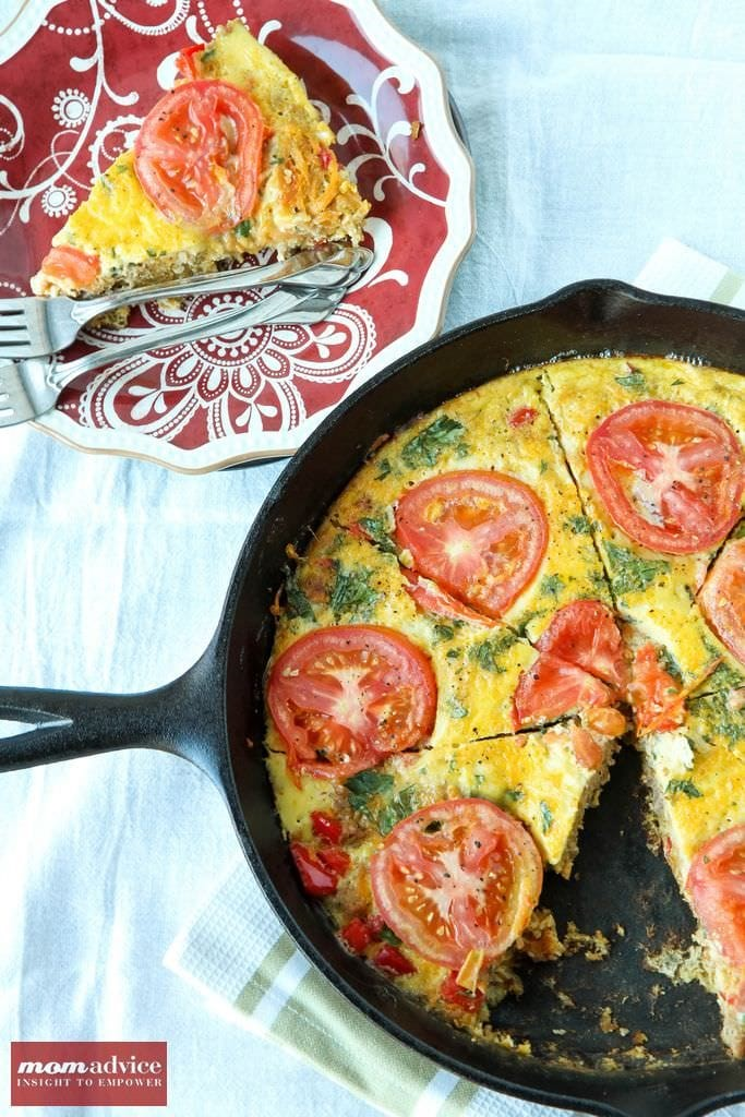 Easy Sausage & Vegetable Frittata-3