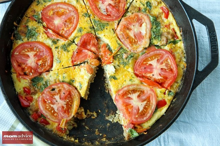 Easy Sausage & Vegetable Frittata-4