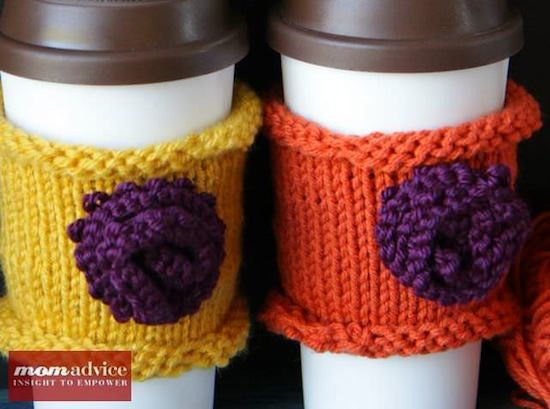 Knitted Coffee Cozies - MomAdvice.com