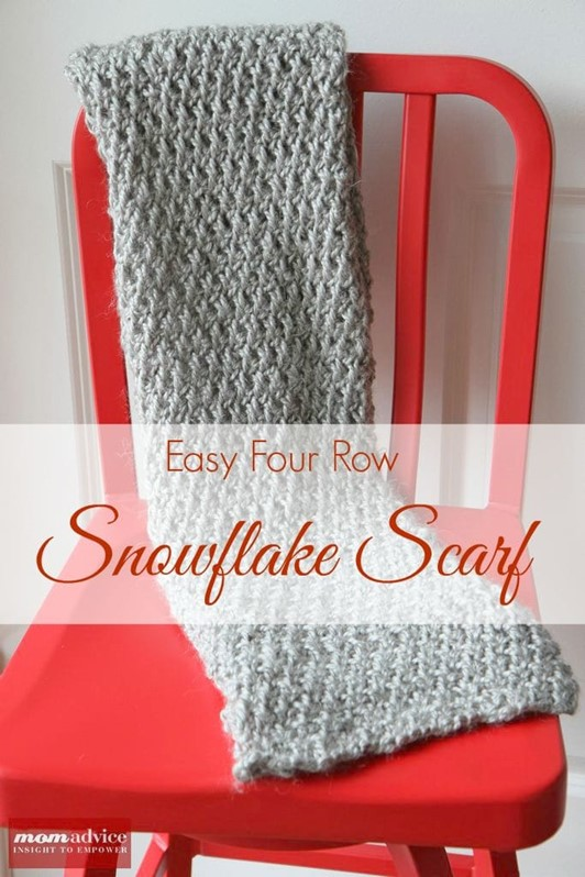All Knitted Up: Snowflake Scarf from Purl Soho