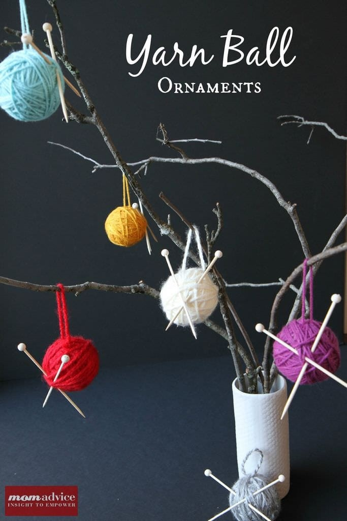 Yarn Ball Ornaments