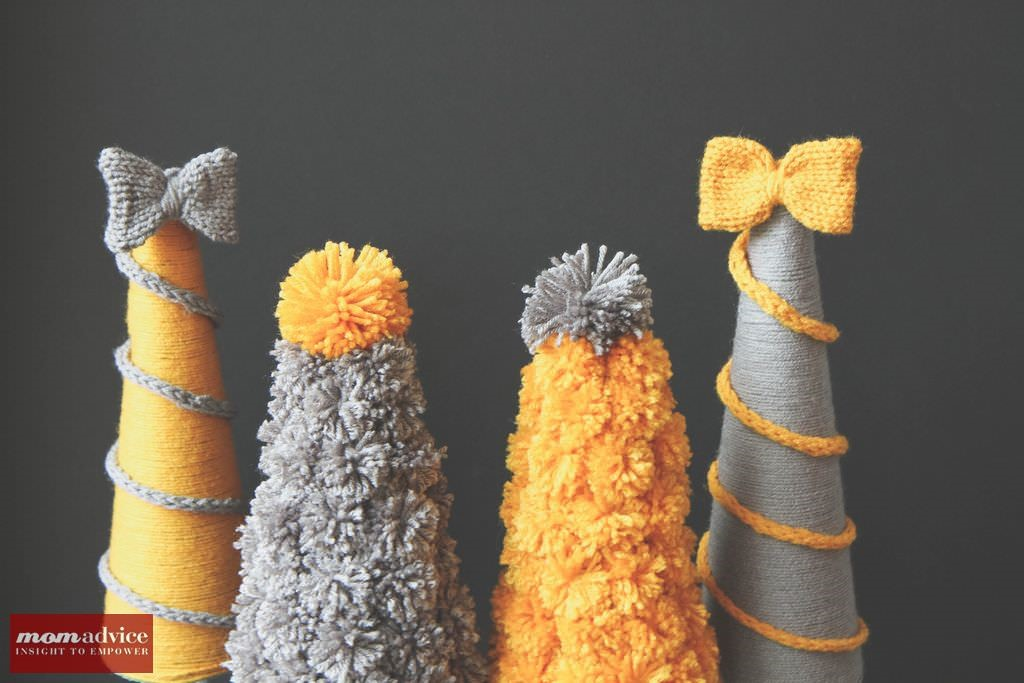 DIY Holiday Yarn Trees