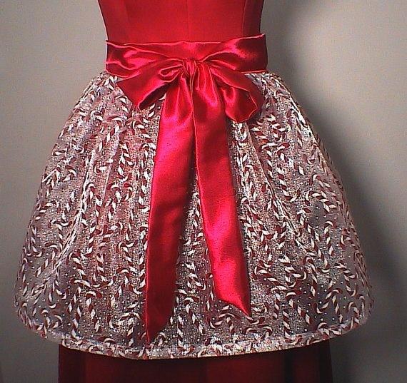 candy cane apron