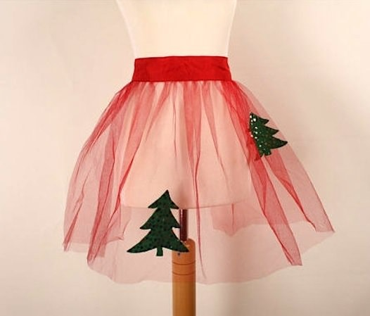 holiday tulle apron