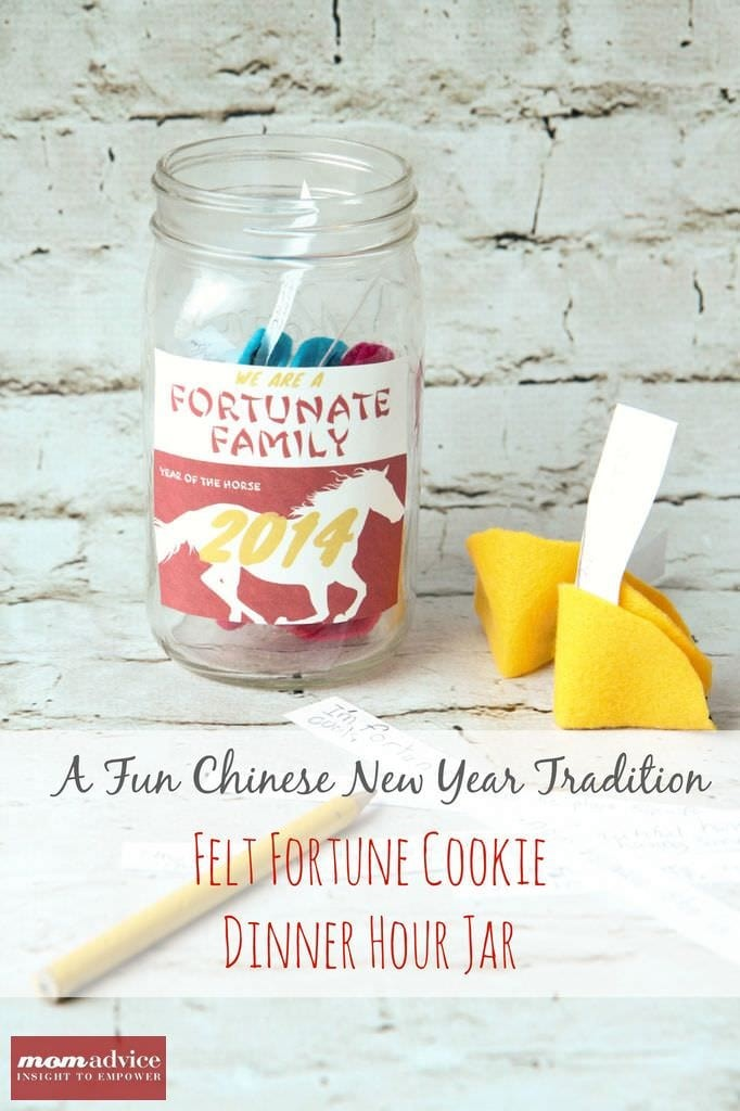 Felt Fortune Cookie MomAdvice.com