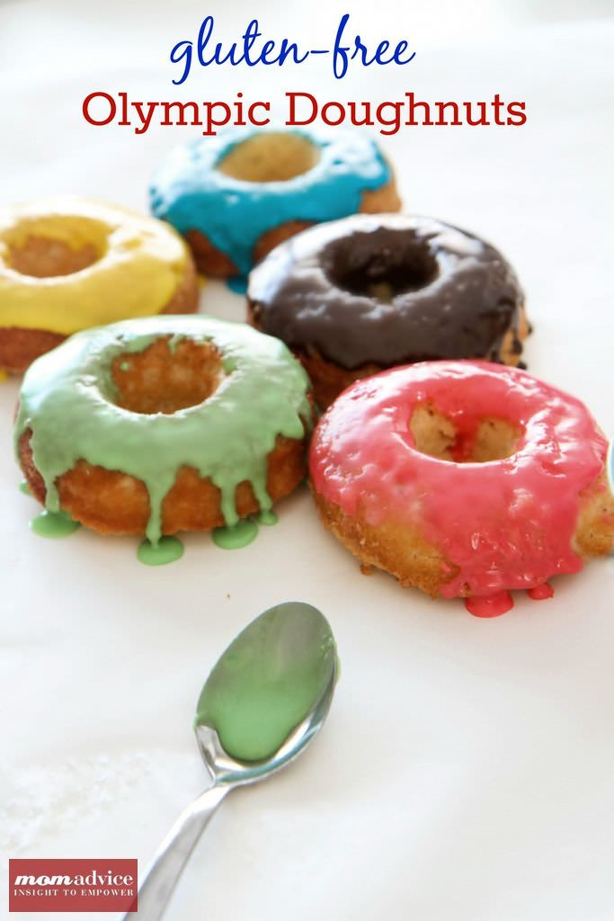 Gluten-Free Olympic Doughnuts from MomAdvice.com.