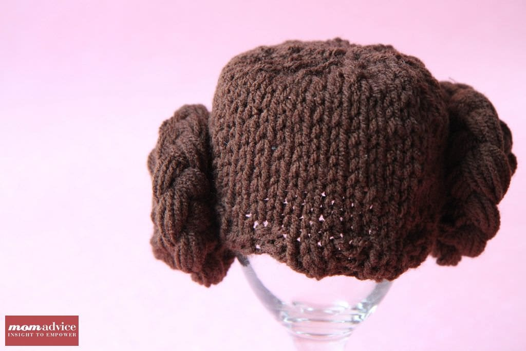 Knitted Princess Leia Hat from MomAdvice.com.