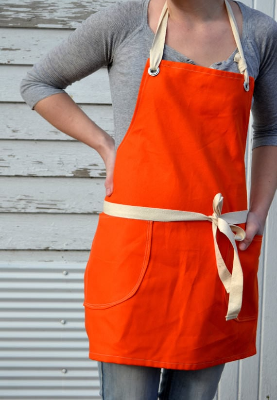 canvas utility apron